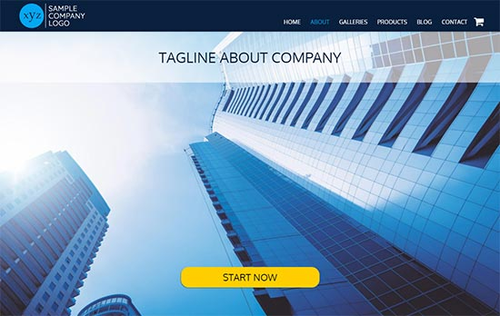 General Business html website template