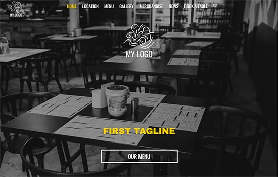 Food and Drink html website template