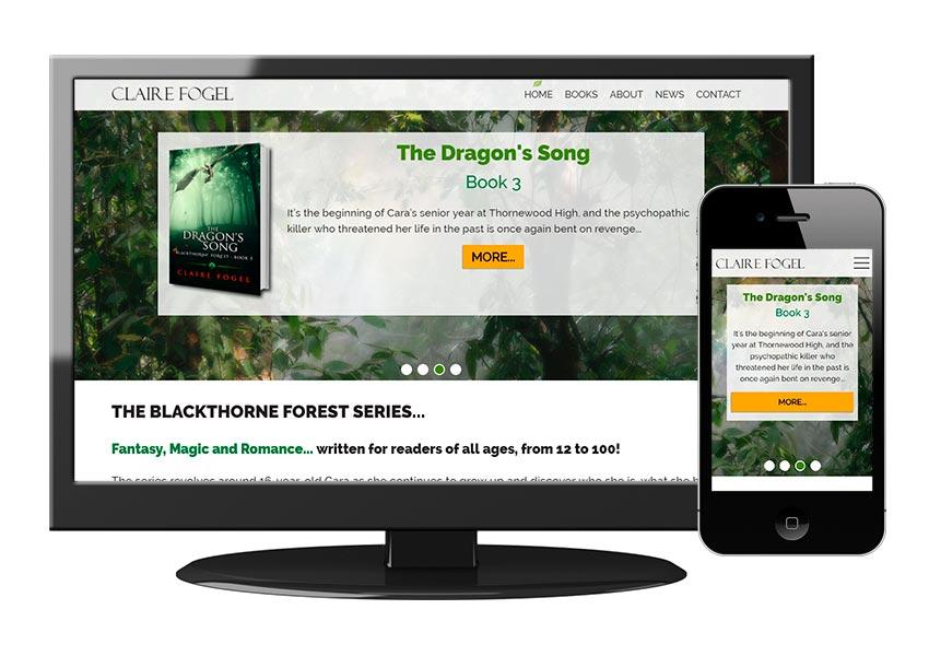 Custom website for Claire Fogel, Author